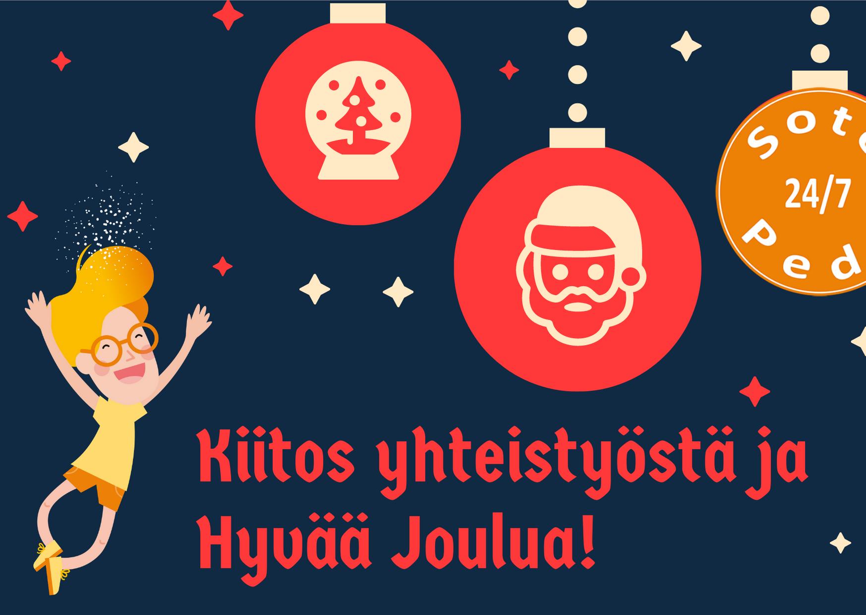 Hyvää joulua SotePeda 24/7 -hankkeesta!